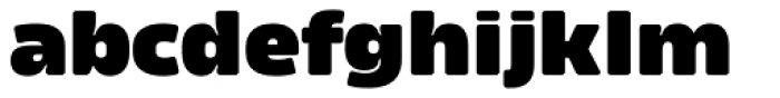 Amfibia Black Expanded Font LOWERCASE