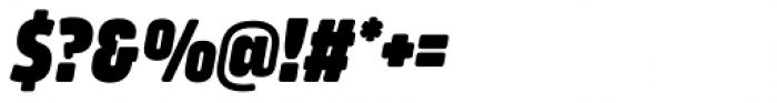 Amfibia Black Narrow Italic Font OTHER CHARS