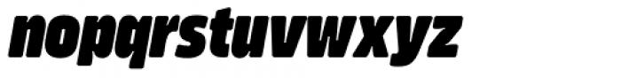 Amfibia Black Narrow Italic Font LOWERCASE