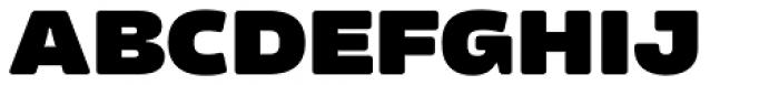 Amfibia Black Wide Font UPPERCASE