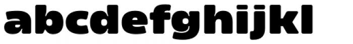 Amfibia Black Wide Font LOWERCASE