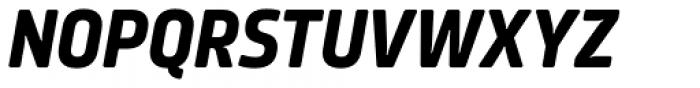 Amfibia Bold Condensed Italic Font UPPERCASE