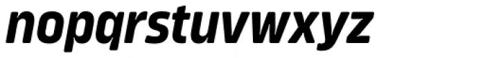 Amfibia Bold Condensed Italic Font LOWERCASE
