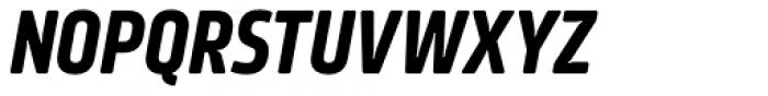Amfibia Bold Narrow Italic Font UPPERCASE