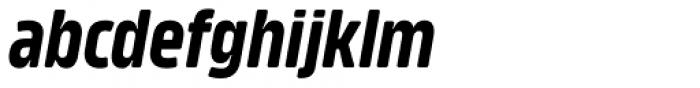 Amfibia Bold Narrow Italic Font LOWERCASE