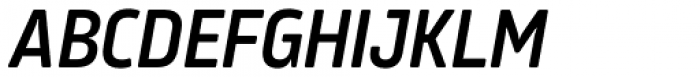 Amfibia Demi Bold Condensed Italic Font UPPERCASE