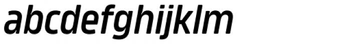 Amfibia Demi Bold Condensed Italic Font LOWERCASE