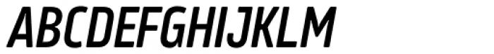Amfibia Demi Bold Narrow Italic Font UPPERCASE