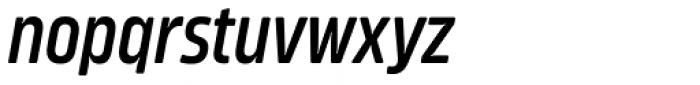 Amfibia Demi Bold Narrow Italic Font LOWERCASE