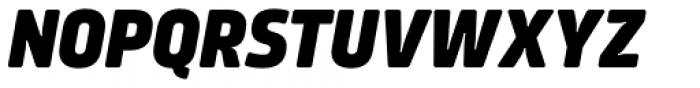 Amfibia Extra Bold Condensed Italic Font UPPERCASE