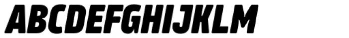 Amfibia Extra Bold Narrow Italic Font UPPERCASE