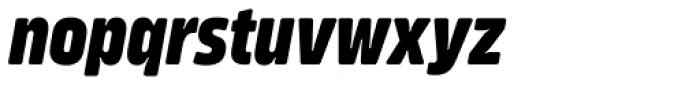 Amfibia Extra Bold Narrow Italic Font LOWERCASE
