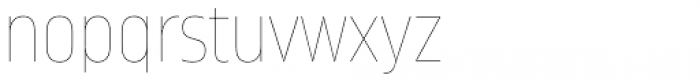 Amfibia Hairline Condensed Font LOWERCASE