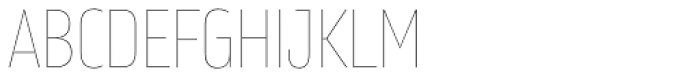 Amfibia Hairline Narrow Font UPPERCASE