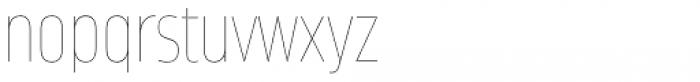 Amfibia Hairline Narrow Font LOWERCASE