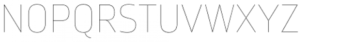 Amfibia Hairline Font UPPERCASE