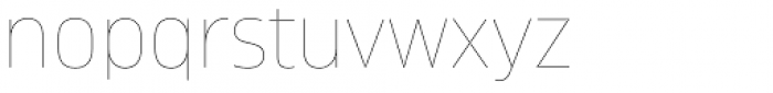 Amfibia Hairline Font LOWERCASE