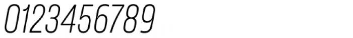 Amfibia Light Narrow Italic Font OTHER CHARS