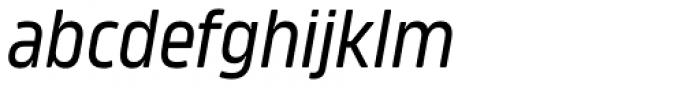 Amfibia Regular Condensed Italic Font LOWERCASE