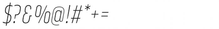 Amfibia Thin Narrow Italic Font OTHER CHARS