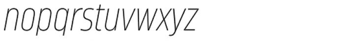 Amfibia Thin Narrow Italic Font LOWERCASE