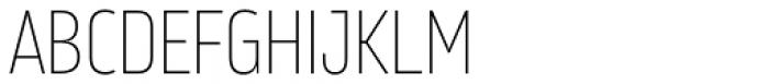 Amfibia Thin Narrow Font UPPERCASE