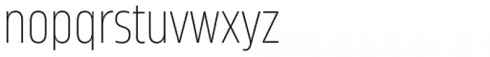 Amfibia Thin Narrow Font LOWERCASE