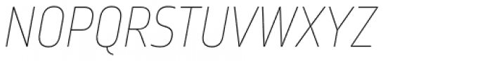 Amfibia Ultra Thin Condensed Italic Font UPPERCASE