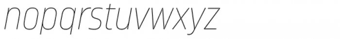 Amfibia Ultra Thin Condensed Italic Font LOWERCASE