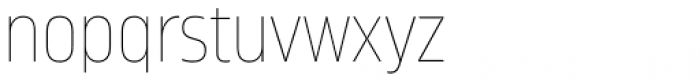 Amfibia Ultra Thin Condensed Font LOWERCASE