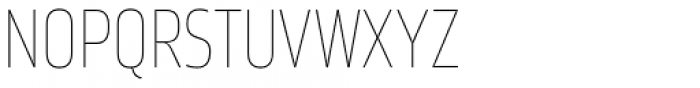 Amfibia Ultra Thin Narrow Font UPPERCASE