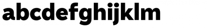 Amica Pro Black Font LOWERCASE
