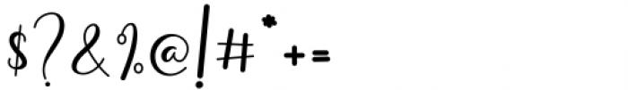 Amillina Regular Font OTHER CHARS