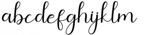 Amillina Regular Font LOWERCASE