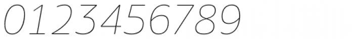Amino Thin Italic Font OTHER CHARS