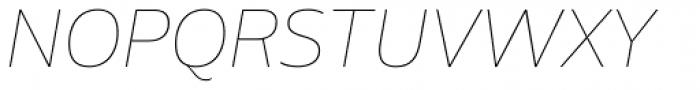 Amino Thin Italic Font UPPERCASE
