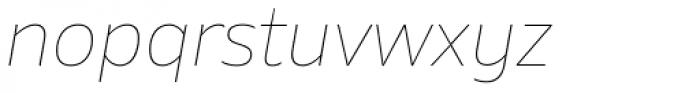 Amino Thin Italic Font LOWERCASE