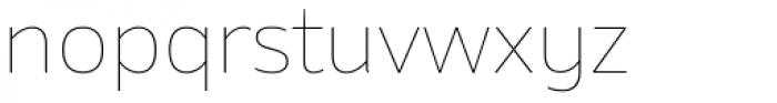 Amino Thin Font LOWERCASE