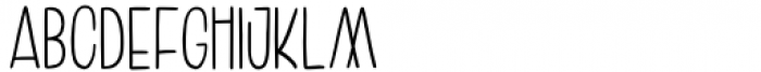 Amoore Regular Font UPPERCASE