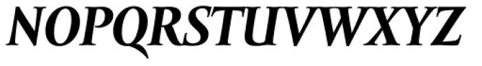 Amor Serif Text Bold Italic Font UPPERCASE
