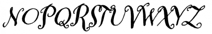 Amoretta Dark Italic Font UPPERCASE