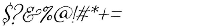 Amoretta Italic Font OTHER CHARS