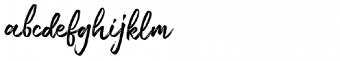 Amorica Script Regular Font LOWERCASE