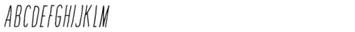 Amorie SC Light Italic Font LOWERCASE