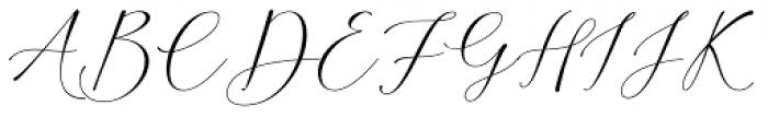 Amorra Script Regular Font UPPERCASE