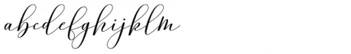 Amorra Script Regular Font LOWERCASE