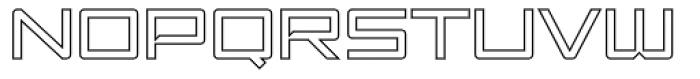Amp Outline Font UPPERCASE
