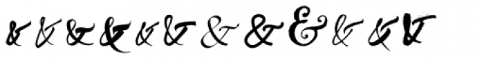 Ampersanders Font UPPERCASE
