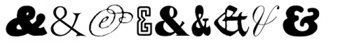 Ampersands One Font OTHER CHARS