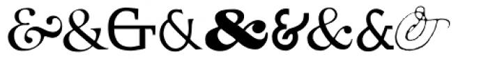 Ampersands One Font UPPERCASE